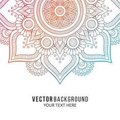 Background with a colorful floral mandala Free Vector