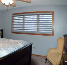 Hunter Douglas Pirouette in Master Bedroom by Beyond Shades
