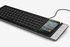 Super cool. Tho keyboard dock combination allows you to input text from your iPhone to your desktop computer and use it as a track pad.