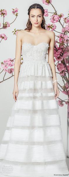 marchesa notte spring 2018 bridal strapless sweetheart neckline heavily embellished romantic a line wedding dress (3) mv