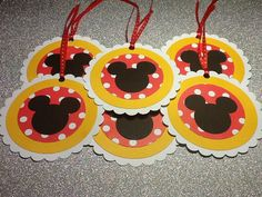 Mickey mouse favor tags