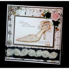 wedding shoe card
