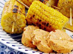 Grillatut maissit ja chilimaustevoi My Cookbook, Vegetables, Koti, Veggies, Veggie Food, Vegetable Recipes