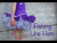 ▶ Fishing Line Hem Tutorial by Create Kids Couture - YouTube