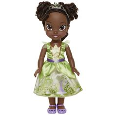 Disney Princess Tiana Petite Doll and Friend Disney Princess Toddler Dolls, Disney Princess Ages, Tangled Princess, Princess Merida, Disney Dolls, Kylie, Purple Accents, Princess Collection, Doll Stands