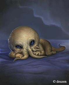 Cthulhu - Douzen Hp Lovecraft, Lovecraft Cthulhu, Cthulhu Art, Call Of Cthulhu, Fantasy Kunst, Fantasy Art, Fantasy Creatures, Mythical Creatures, Lovecraftian Horror