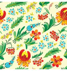 Ukrainian+floral+seamless+vector+3472708+-+by+gollli on VectorStock®