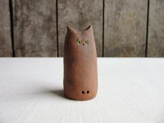 Smudge. Ceramic Cat Figurine, Miniature Pottery Cat Figurine,Handmade Ceramic Cats,Pottery Sculpture,Cat Lovers Gift,Whimsical,Funny Animals Cat Lover Gifts, Cat Lovers, Lovers Gift, Pottery Animals, Unique Cats, Pottery Sculpture, Pottery Designs, Bird Watching, Smudging