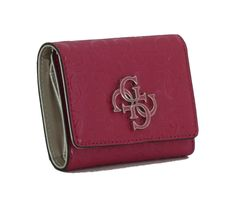 Portmonee Guess Chic Shine SLG Berry Prägung Emblem, Clutch, Continental Wallet, Berry, Zip Around Wallet, Pink, Fashion, Coin Purse, Moda