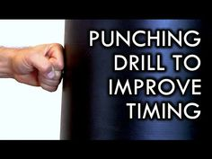 Punching Drill to Improve Timing for Self-Defense - YouTube