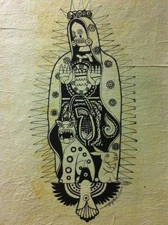 Fascinating fusion of Virgin of Guadalupe with Aztec goddess Tonantzin