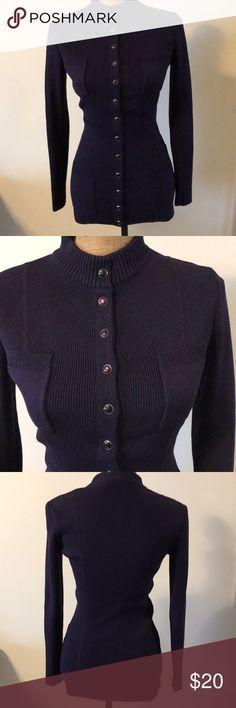 WR Waynerogers long sweater. WR Waynerogers. Dark purple, snap bottom. Heavy weight. WR wagnerogers Sweaters
