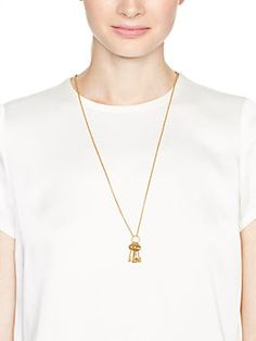 ever & ever key pendant, gold