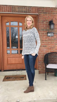 Stitch Fix Box Review January 2016 | Loveappella Morgan Mix Knit | My Life From Home | www.mylifefromhome.com