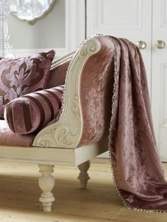Mauve and ivory settee Lady-Gray-Dreams