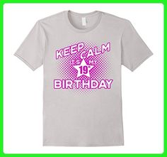 Mens Keep Calm It's My 19th Birthday T-Shirt for Women Small Silver - Birthday shirts (*Amazon Partner-Link)