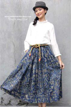Batik Amarillis made in Indonesia The most anticipated Batik Amarillis's Traveller skirt in hand drawn batik Pacitan available at Batik Amarillis webstore www.batikamarillis-shop.com