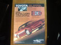 1987 TOYOTA SUPRA Vintage Magazine AD