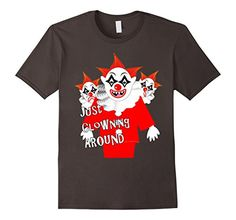 Men's Insane Scary Clowns Clowning Around Graphic T Shirt... https://www.amazon.com/dp/B01M990U20/ref=cm_sw_r_pi_dp_x_Lt0.xb629845V