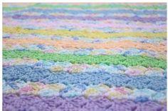 Pastels Baby Blanket Crochet Baby Blanket by CraftCreationsbyRose