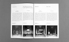 A double-feature Manifest for the DEPOT BASEL's exhibitions »Musterzimmer« and  »No Function – No Sense?«.  Size 21 x 29,7 cm, 26 pages.