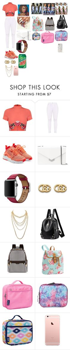 """Untitled #407"" by kaylafrost15 ❤ liked on Polyvore featuring NIKE, Jimmy Choo, Gucci, Charlotte Russe, Henri Bendel, PBteen, Wildkin, Dickies and Kate Spade"