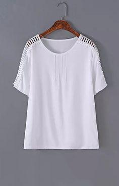 Women summer style blouses O neck short sleeve shirt camisas femininas casual solid office wear tops DT358 size medium