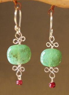 wire loops in earrings
