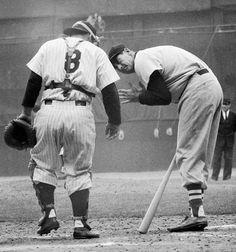 Yogi Berra, New York Yankees, and Ted Williams, Boston Red Sox