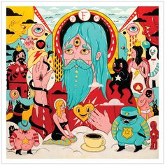"Father John Misty's ""Fear Fun"" cover art. Read our interview with him, where we pretty much exclusively talk about psychedelic mushrooms."