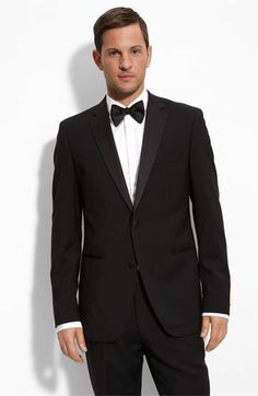 Groom Suits – BOSS Black 'The Stars 75/Glamour 3′ Super 100s Wool Tuxedo « Wedding Fashion