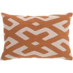 World Menagerie Bomaderry 100% Linen Lumbar Pillow Cover Color: Orange\Brown