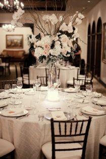 white and black tablescape