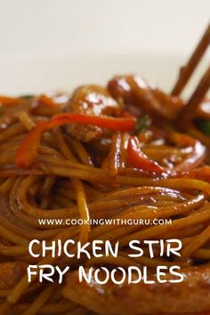I am sharing my quick and easy vegetable and chicken breast stir fry noodles recipe. This noodle recipe is super versatile and can be tweaked as per your liking. #noodles #stirfrynoodles