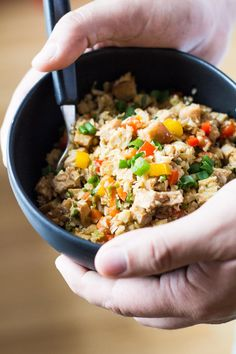 This Cauliflower Fried Rice is a low-carb and high-protein dinner recipe full of vegetables and Asian-Peruvian flavor. 30 minutes from start to digging in.