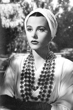1940s #turban Hedy Lamarr