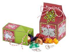 Handmade Christmas advent box printable