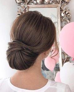 Sleek wedding hairstyle inspiration   elegant chignon bridal hairstyle ideas #weddinghair #updo #chignon #sleekhairstyle #hairstyleideas #weddinghairinspiration