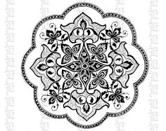 Mandala Asian Floral Decorative Motif by luminariumgraphics, $2.20