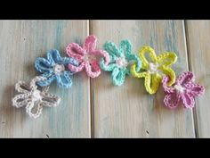 (crochet) How To Crochet Flower Chains - Yarn Scrap Friday - YouTube. ﻬஐCQஐﻬ #crochet #spring #crochetflowers #flowers