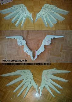 Mercy Overwatch Cosplay Progress Wings by mariilicious