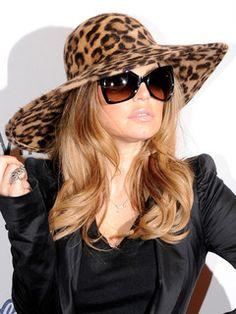 Fergie in Leopard print animal print cheetah print hat Fancy Hats, Cute Hats, Animal Print Fashion, Fashion Prints, Animal Prints, Looks Style, Style Me, Stylish Hats, Love Hat