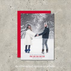 Modern christmas card A FaLaLa Wish by minkcards on Etsy