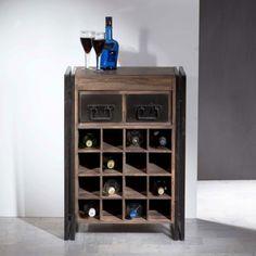 Lavis Havel | Industriele wijnkast met lades | Onlinedesignmeubel