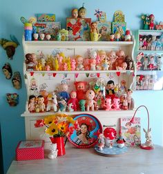 Cutest shelf of vintage treasures
