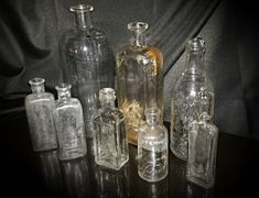 """CITRATE OF MAGNESIA Solution Dosage Glass Bottle. These bottles were """"unearthed"""" so to speak. Apothecary Pharmacy, Apothecary Bottles, Amber Glass Bottles, Mini Bottles, Vintage Medical, Medicine Bottles, Glass Candy, Vintage Bottles, Glass Animals"""