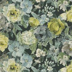 roseto - slate wallpaper | Designers Guild