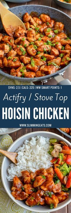 Slimming Heavenly Tender Hoisin Chicken - a quick simple dish that is ready in less than 20 minutes and can be cooked in an Actifry or on the Stove Top. Gluten Free, Dairy Free, Slimming WOrld and Weight Watchers friendly - Slimming World Dinners, Slimming World Chicken Recipes, Slimming World Recipes Syn Free, Slimming World Diet, Slimming Eats, Actifry Recipes Slimming World, Slimming World Lunch Ideas, Slimming World Chicken Fried Rice, Slimming World Breakfast Ideas Quick