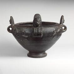 Terracotta bowl with lid | Etruscan | Archaic | The Met