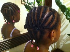 Crossed cornrows (right view)